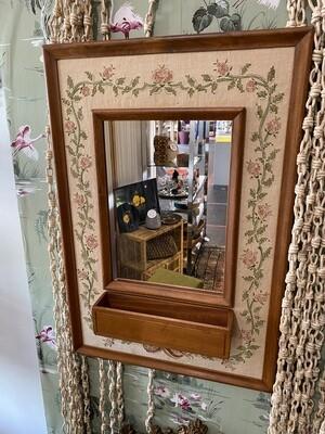 Vintage Cross Stitch Framed Mirror