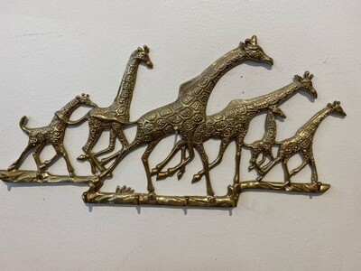 Vintage Brass Giraffe Key Holder