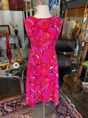 Vintage Hot Pink Hawaiian Dress