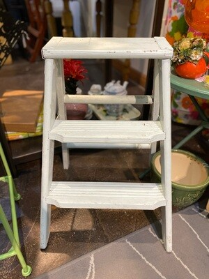 Vintage Wood Step Stool Plant Stand