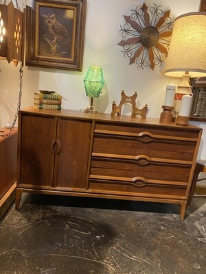 Mid Century Modern Solid Walnut Credenza by Lane