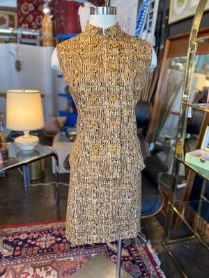 Vintage 1980's Chettab Vest & Skirt