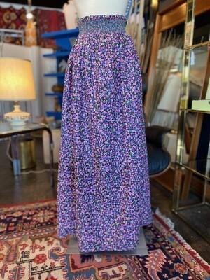 Vintage 1970's Floral Elastic Waist/Bust Dress or Skirt Maxi