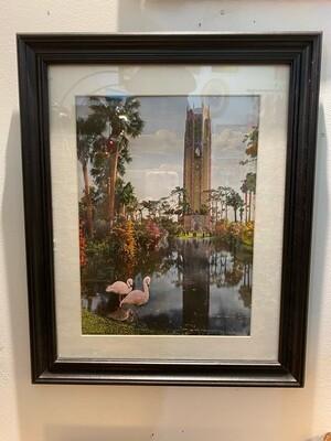 Vintage Framed Barnhill Print Bok Tower