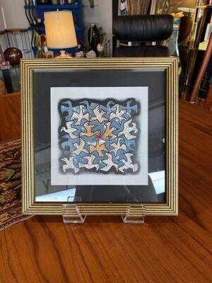 Framed & Matted Escher Birds