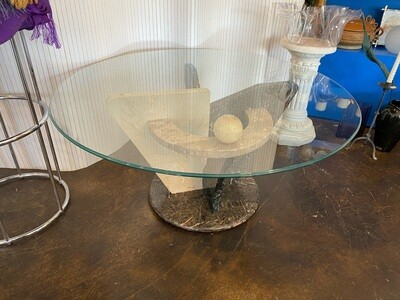 Post Modern Mixed Marble Coffee Table
