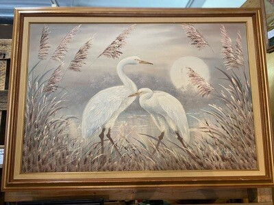 Vintage Original Painting, Signed A. Maley