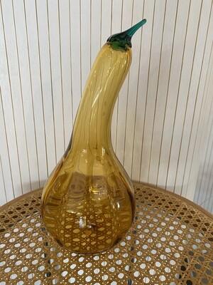 Mid Century Modern Blenko Golden Squash Gourd