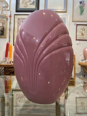 Large Pink Art Deco Vase