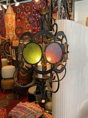 Vintage 1960's Hollywood Regency Swag Lamp