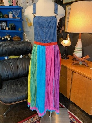 Modern Overall Top with Rainbow Bottom Dress