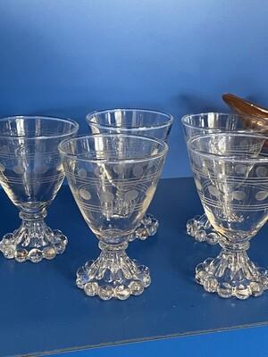 Vintage Crystal Footed Glassware
