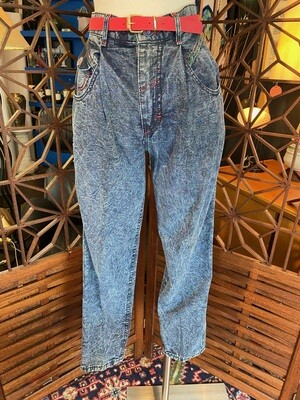 Vintage Deadstock Rainbow Stitched LEE Jeans with Belt