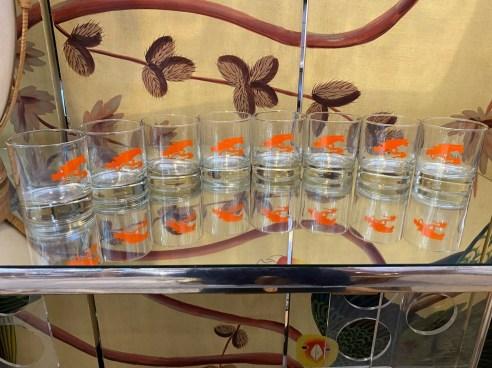 Vintage Set of Bonsai Tree Tumbler Glasses