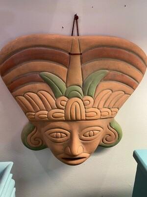 Terra Cotta Mayan God Face