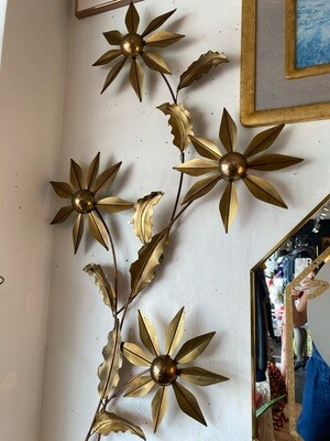 Mid Century Modern Metal Flower Wall Art