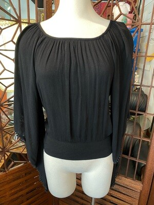 Modern Rayon Top with Open Back