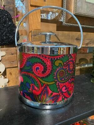Mid Century Modern Paisley Ice Bucket