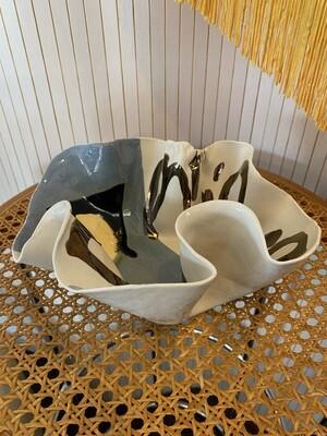 Vintage Signed 86' Studio Pottery Bowl