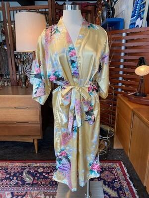 Modern Peacock Kimono Robe