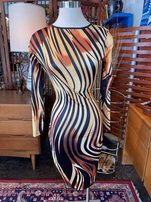 Modern Tiger Dress with Adjustable Waist