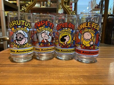 Vintage 1982 Pepsi Popeye Glass Collection