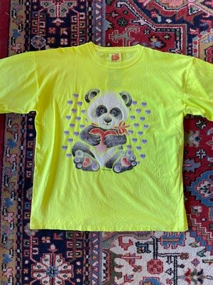 Vintage 1989 Air Waves Neon Panda T-Shirt