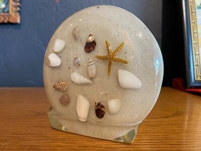 Vintage Shell & Sand Napkin Holder