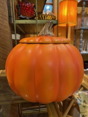 Vintage Pumpkin Covered Bowl