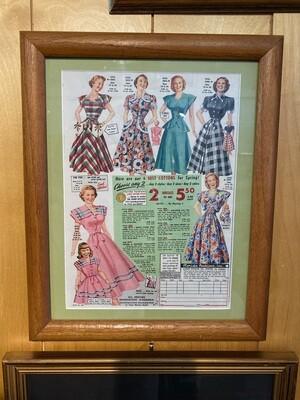 Vintage Florida Fashions, Inc Sanford, FL Framed & Matted Ad