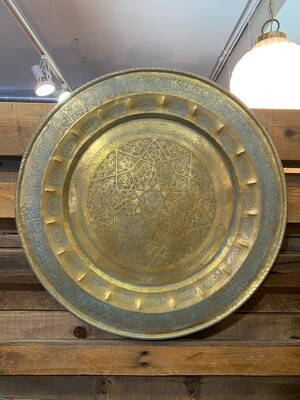 Vintage Brass Wall Decor or Table Top