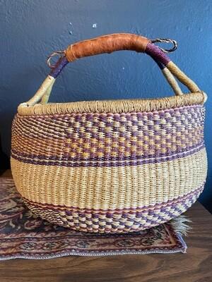 Vintage Boho Large Basket