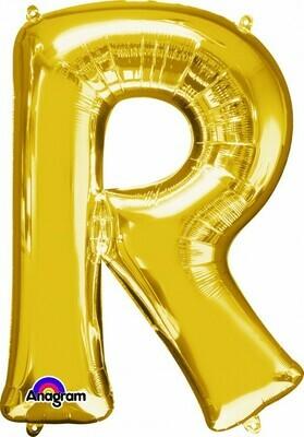 Super Shape Letter R Gold 34