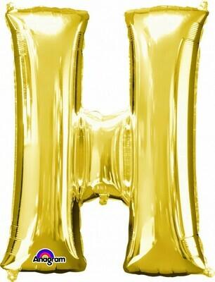 Super Shape Letter H Gold 34