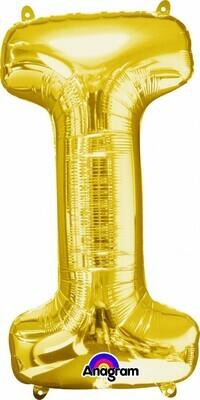Super Shape Letter I Gold 34