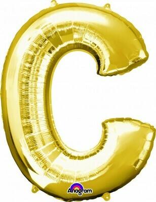 Super Shape Letter C Gold 34