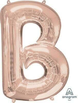Super Shape Letter B Rose Gold 34