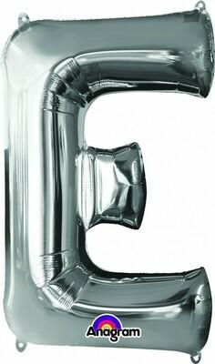 Super Shape Letter E Silver 34