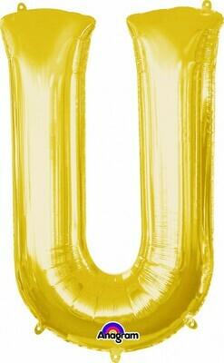 Super Shape Letter U Gold 34
