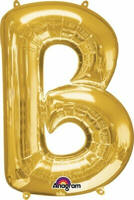 Super Shape Letter B Gold 34