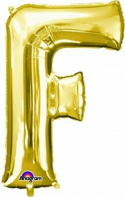 Super Shape Letter F Gold 34