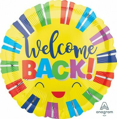 Welcome Back Colorful Stripes 18