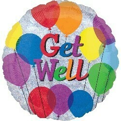 Standard Holographic Get Well Balloons S55