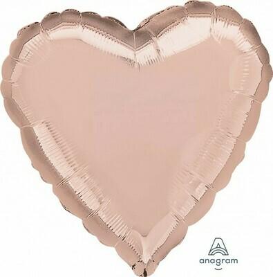 Heart Rose Gold 18