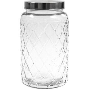 Jar Storage Diamond Patterned 2600ml