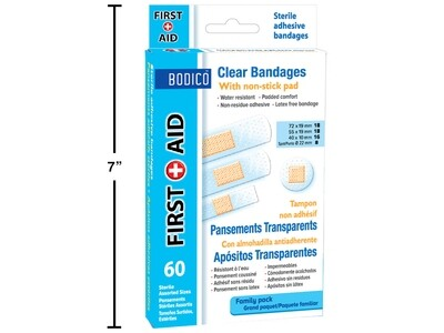 Bodico 60pc Clear Bandages,