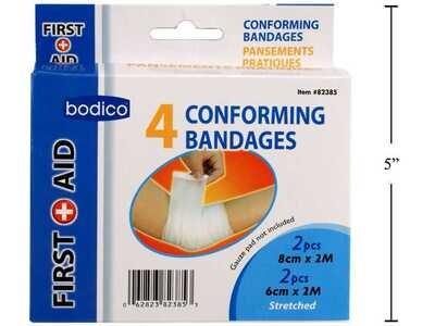 Bodico 4-pc Conforming Bandages