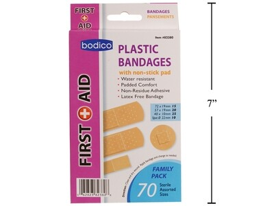 Bodico 70-pc Plastic Bandage