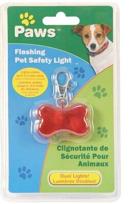 Paws Flashing Pet Safety Light Clamshell
