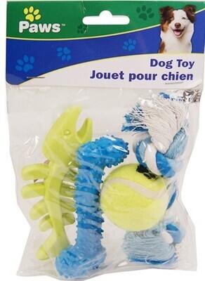 Paws 4pcs Pet Toy Set